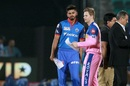 Shreyas Iyer and Steven Smith at the toss, Rajasthan Royals v Delhi Capitals, IPL 2019, Jaipur, April 22, 2019