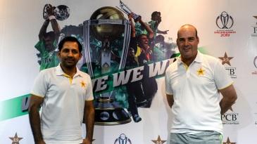 Sarfaraz Ahmed and Mickey Arthur ahead of the pre-World Cup tour of England