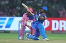 Shikhar Dhawan swept Shreyas Gopal's first ball for six, Rajasthan Royals v Delhi Capitals, IPL 2019, Jaipur, April 22, 2019