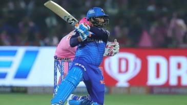 Rishabh Pant blasts one through the off side