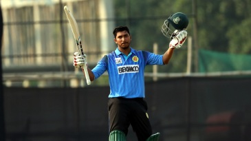Soumya Sarkar became the first Bangladeshi batsman to hit a List A double-century