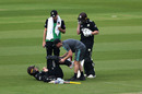 Jason Roy of Surrey receives treatment from the medical team, Surrey v Essex, Royal London One Day Cup, The Oval, April 23, 2019