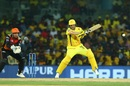 Shane Watson smacks the ball, Chennai Super Kings v Sunrisers Hyderabad, IPL 2019, Chennai, April 23, 2019