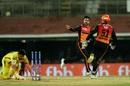 Rashid Khan celebrates dismissing Suresh Raina, Chennai Super Kings v Sunrisers Hyderabad, IPL 2019, Chennai, April 23, 2019