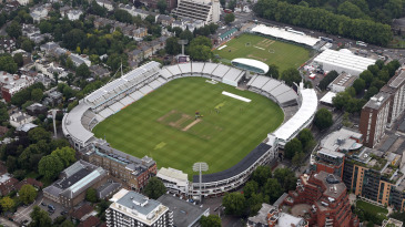 An aerial view of Lord's