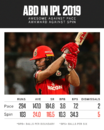 AB de Villiers hasn't had a great time against spin in IPL 2019