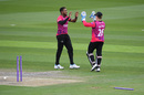 Chris Jordan celebrates a wicket, Sussex v Somerset, Royal London Cup, South Group, Hove, April 24, 2019