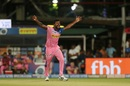 Varun Aaron is overjoyed, Kolkata Knight Riders v Rajasthan Royals, IPL 2019, Kolkata, April 25, 2019