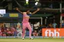 Varun Aaron is overjoyed, Kolkata Knight Riders v Rajasthan Royals, IPL 2019, Kolkata, April 25, 2019
