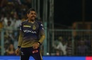 Sunil Narine reacts to a wicket, Kolkata Knight Riders v Rajasthan Royals, IPL 2019, April 25, 2019