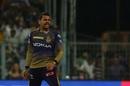 Sunil Narine reacts to a wicket, Kolkata Knight Riders v Rajasthan Royals, IPL 2019, April 25, 2019