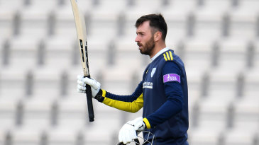 James Vince brings up his century