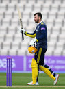James Vince brings up his century, Hampshire v Gloucestershire, Royal London Cup, Ageas Bowl, April 26, 2019