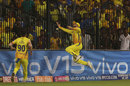 Dhruv Shorey reaches out to try and take a catch, Chennai Super Kings v Mumbai Indians, IPL 2019, Chennai, April 26, 2019