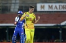 Mitchell Santner celebrates one of his two wickets on the night, Chennai Super Kings v Mumbai Indians, IPL 2019, Mumbai, April 26, 2019