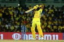 Dwayne Bravo lifts one over the off side, Chennai Super Kings v Mumbai Indians, IPL 2019, Chennai, April 26, 2019