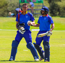 JJ Smit and Zane Green walk off after their 103-run unbroken stand took Namibia to their highest ever List A score, Namibia v Hong Kong, WCL Division Two, Windhoek, April 26, 2018