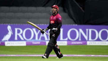 Peter Trego celebrates his hundred with a roar