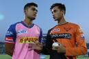 The IPL youngsters - Riyan Parag and Abhishek Sharma swap notes, Rajasthan Royals v Sunrisers Hyderabad, IPL 2019, Jaipur, April 27, 2019