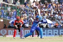 Sherfane Rutherford gave the Capitals innings some late impetus, Delhi Capitals v Royal Challengers Bangalore, IPL 2019, Delhi, April 28, 2019