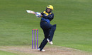 Billy Root swings away a pull shot Glamorgan v Surrey, Royal London One Day Cup, Sophia Gardens, April 28, 2019