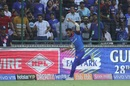 Axar Patel takes a super catch in the deep to send AB de Villiers back, Delhi Capitals v Royal Challengers Bangalore, IPL 2019, Delhi, April 28, 2019