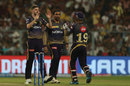 Harry Gurney celebrates a wicket, Kolkata Knight Riders v Mumbai Indians, IPL 2019, Kolkata, April 28, 2019