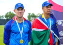 Namibia captain Gerhard Erasmus and Player of the Tournament JJ Smit were instrumental in their side gaining ODI status, Namibia v Oman, WCL Division Two, Final, Windhoek, April 27, 2019