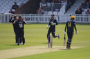 Stuart Meaker bowls James Vince at The Oval, Surrey v Hampshire, The Oval, April 30, 2019