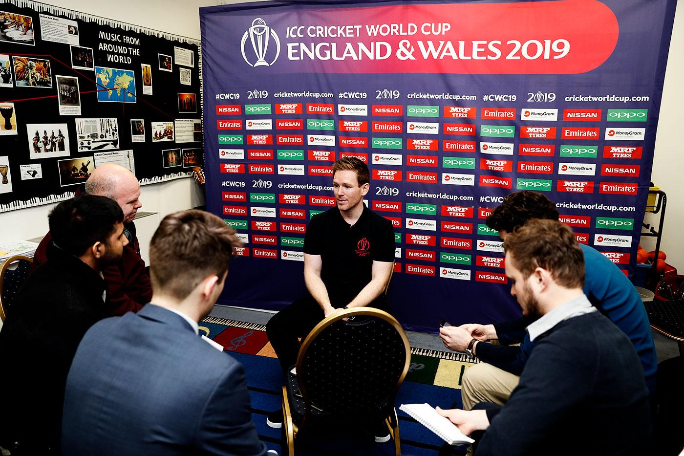 Over time Morgan has grown more comfortable in his role as an England team spokesperson
