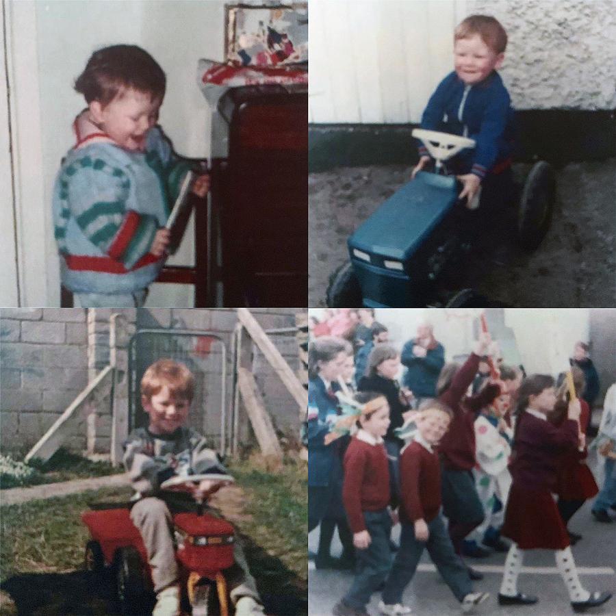 Dublin days: young Eoin when he wasn't holding a bat