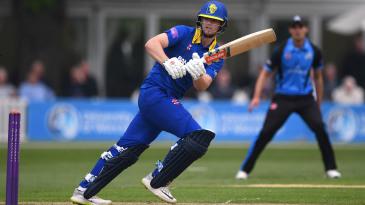 Durham batsman Alex Lees picks up some runs