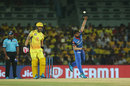 J Suchith in his delivery stride, Chennai Super Kings v Delhi Capitals, Chennai, IPL 2019, 1 May, 2019