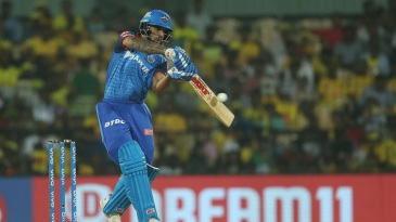 Shikhar Dhawan flays the ball through the off side