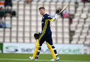 Tom Alsop acknowledges the crowd after reaching his century, Hampshire v Sussex, Royal London Cup, South Group, Ageas Bowl, May 2, 2019