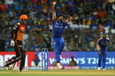 Jasprit Bumrah in his delivery stride, Mumbai Indians v Sunrisers Hyderabad, IPL 2019, Mumbai, May 2, 2019