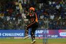 Mohammad Nabi pulls behind square, Mumbai Indians v Sunrisers Hyderabad, IPL 2019, Mumbai, May 2, 2019