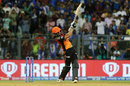 Manish Pandey launches one over midwicket, Mumbai Indians v Sunrisers Hyderabad, IPL 2019, Mumbai, May 2, 2019