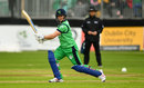 Will Porterfield drives through the covers, Ireland v England, only ODI, May 3, 2019