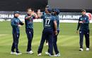 Tom Curran celebrates a breakthrough, Ireland v England, only ODI, Malahide, May 3, 2019