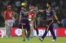 Nitish Rana picked up the vital wicket of Nicholas Pooran, Kings XI Punjab v Kolkata Knight Riders, IPL 2019, Mohali, May 3, 2019