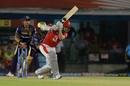 Sam Curran drives one towards long off, Kings XI Punjab v Kolkata Knight Riders, IPL 2019, Mohali, May 3, 2019