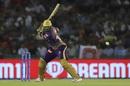 Andre Russell shapes to cut a short ball, Kings XI Punjab v Kolkata Knight Riders, IPL 2019, Mohali, May 3, 2019