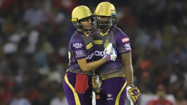 Shubman Gill was the aggressor in a brisk partnership with Andre Russell