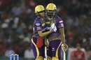 Shubman Gill was the aggressor in a brisk partnership with Andre Russell, Kings XI Punjab v Kolkata Knight Riders, IPL 2019, Mohali, May 3, 2019