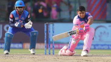 Riyan Parag shapes up to play a sweep