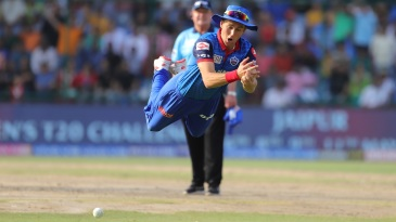 Trent Boult drops a catch