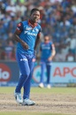 Sherfane Rutherford reacts in the field, Delhi Capitals v Rajasthan Royals, IPL 2019, Delhi