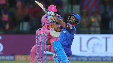 Rishabh Pant goes for the big one