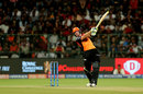 Martin Guptill spanks one over the off side, Royal Challengers Bangalore v Sunrisers Hyderabad, IPL 2019, Bengaluru, May 4, 2019